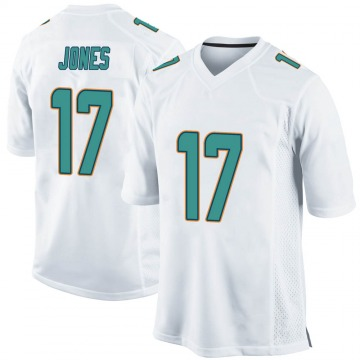 Youth Nike Miami Dolphins Andy Jones White Jersey - Game