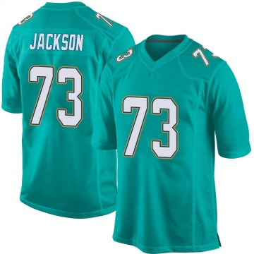 Youth Nike Miami Dolphins Austin Jackson Aqua Team Color Jersey - Game