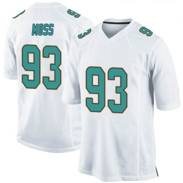 Youth Nike Miami Dolphins Avery Moss White Jersey - Game