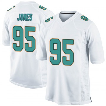 Youth Nike Miami Dolphins Benito Jones White Jersey - Game