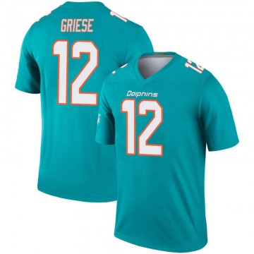 Youth Nike Miami Dolphins Bob Griese Aqua Inverted Jersey - Legend