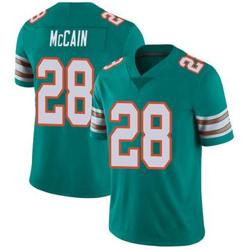 Youth Nike Miami Dolphins Bobby McCain Aqua Alternate Vapor Untouchable Jersey - Limited