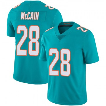 Youth Nike Miami Dolphins Bobby McCain Aqua Team Color 100th Vapor Untouchable Jersey - Limited
