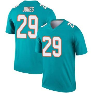 Youth Nike Miami Dolphins Brandon Jones Aqua Jersey - Legend