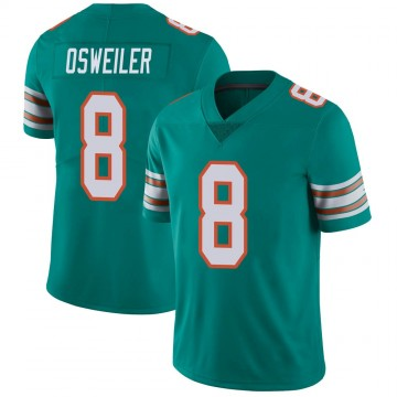 Youth Nike Miami Dolphins Brock Osweiler Aqua Alternate Vapor Untouchable Jersey - Limited