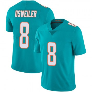 Youth Nike Miami Dolphins Brock Osweiler Aqua Team Color 100th Vapor Untouchable Jersey - Limited