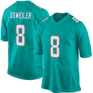 Youth Nike Miami Dolphins Brock Osweiler Aqua Team Color Jersey - Game