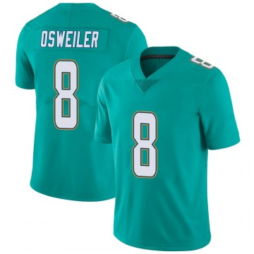 Youth Nike Miami Dolphins Brock Osweiler Aqua Team Color Vapor Untouchable Jersey - Limited