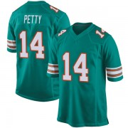 Youth Nike Miami Dolphins Bryce Petty Aqua Alternate Jersey - Game