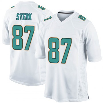 Youth Nike Miami Dolphins Bryce Sterk White Jersey - Game