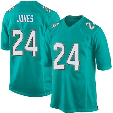 Youth Nike Miami Dolphins Byron Jones Aqua Team Color Jersey - Game