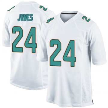 Youth Nike Miami Dolphins Byron Jones White Jersey - Game