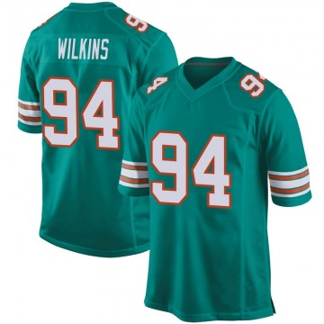 Youth Nike Miami Dolphins Christian Wilkins Aqua Alternate Jersey - Game