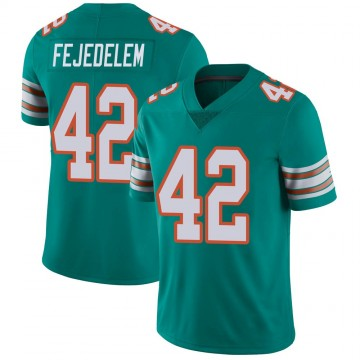 Youth Nike Miami Dolphins Clayton Fejedelem Aqua Alternate Vapor Untouchable Jersey - Limited