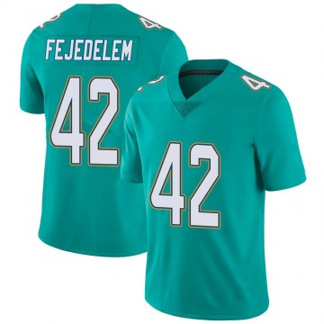 Youth Nike Miami Dolphins Clayton Fejedelem Aqua Team Color Vapor Untouchable Jersey - Limited