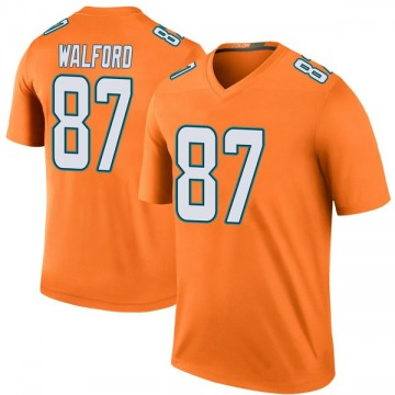 Youth Nike Miami Dolphins Clive Walford Orange Color Rush Jersey - Legend