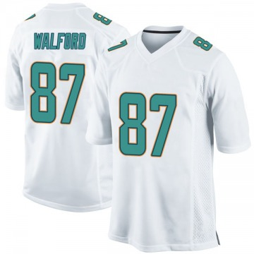 Youth Nike Miami Dolphins Clive Walford White Jersey - Game