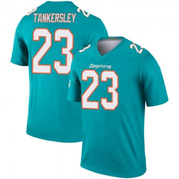 Youth Nike Miami Dolphins Cordrea Tankersley Aqua Inverted Jersey - Legend