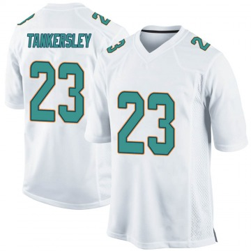 Youth Nike Miami Dolphins Cordrea Tankersley White Jersey - Game