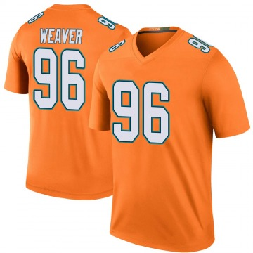 Youth Nike Miami Dolphins Curtis Weaver Orange Color Rush Jersey - Legend