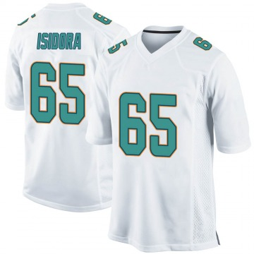 Youth Nike Miami Dolphins Danny Isidora White Jersey - Game