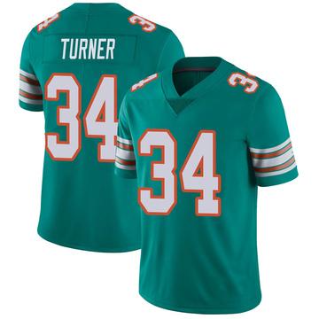 Youth Nike Miami Dolphins De'Lance Turner Aqua Alternate Vapor Untouchable Jersey - Limited