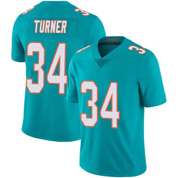 Youth Nike Miami Dolphins De'Lance Turner Aqua Team Color 100th Vapor Untouchable Jersey - Limited