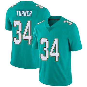 Youth Nike Miami Dolphins De'Lance Turner Aqua Team Color Vapor Untouchable Jersey - Limited