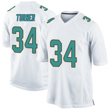 Youth Nike Miami Dolphins De'Lance Turner White Jersey - Game