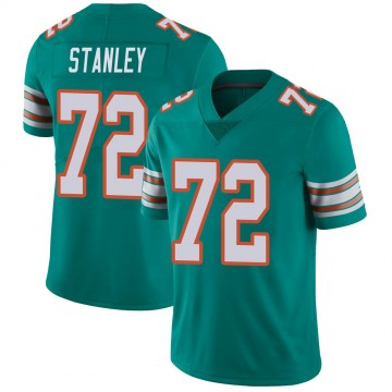Youth Nike Miami Dolphins Donell Stanley Aqua Alternate Vapor Untouchable Jersey - Limited