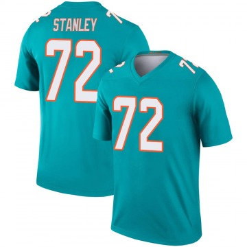 Youth Nike Miami Dolphins Donell Stanley Aqua Jersey - Legend