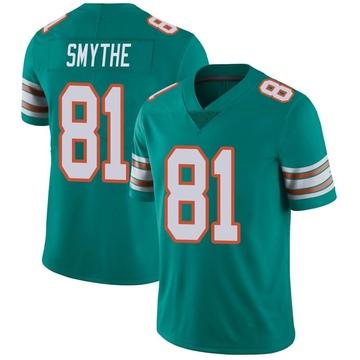Youth Nike Miami Dolphins Durham Smythe Aqua Alternate Vapor Untouchable Jersey - Limited