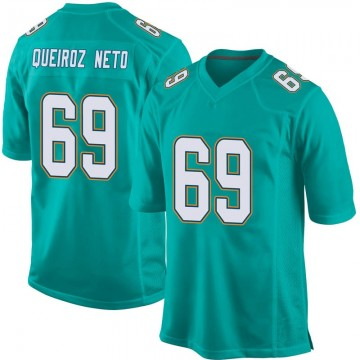 Youth Nike Miami Dolphins Durval Queiroz Neto Aqua Team Color Jersey - Game