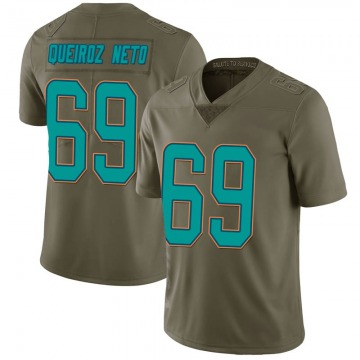 Youth Nike Miami Dolphins Durval Queiroz Neto Green 2017 Salute to Service Jersey - Limited