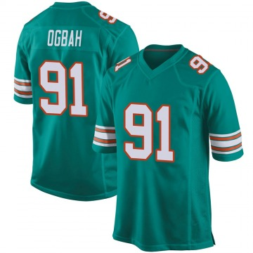 Youth Nike Miami Dolphins Emmanuel Ogbah Aqua Alternate Jersey - Game