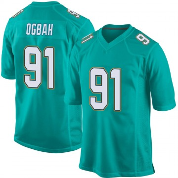 Youth Nike Miami Dolphins Emmanuel Ogbah Aqua Team Color Jersey - Game
