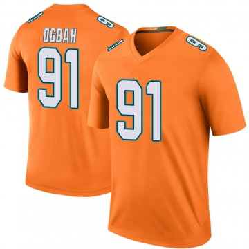 Youth Nike Miami Dolphins Emmanuel Ogbah Orange Color Rush Jersey - Legend