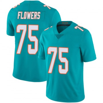 Youth Nike Miami Dolphins Ereck Flowers Aqua Team Color 100th Vapor Untouchable Jersey - Limited