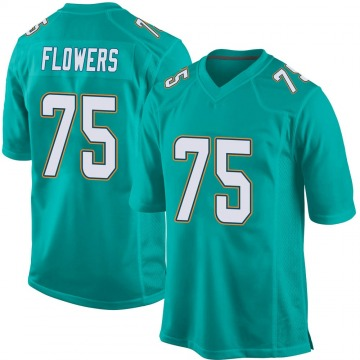 Youth Nike Miami Dolphins Ereck Flowers Aqua Team Color Jersey - Game