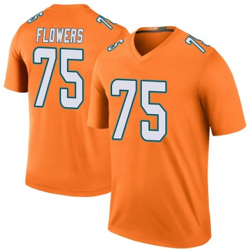 Youth Nike Miami Dolphins Ereck Flowers Orange Color Rush Jersey - Legend