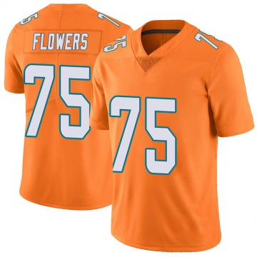 Youth Nike Miami Dolphins Ereck Flowers Orange Color Rush Jersey - Limited