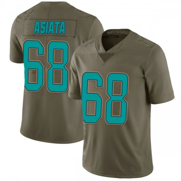 Youth Nike Miami Dolphins Isaac Asiata Green 2017 Salute to Service Jersey - Limited
