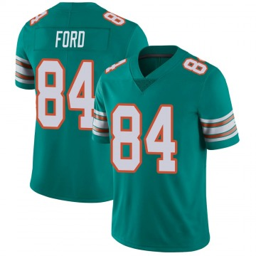 Youth Nike Miami Dolphins Isaiah Ford Aqua Alternate Vapor Untouchable Jersey - Limited