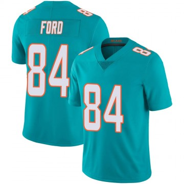 Youth Nike Miami Dolphins Isaiah Ford Aqua Team Color 100th Vapor Untouchable Jersey - Limited