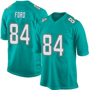 Youth Nike Miami Dolphins Isaiah Ford Aqua Team Color Jersey - Game