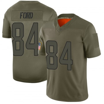 Youth Nike Miami Dolphins Isaiah Ford Camo 2019 Salute to Service Jersey - Limited