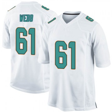 Youth Nike Miami Dolphins J'Marcus Webb White Jersey - Game