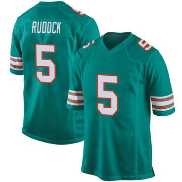 Youth Nike Miami Dolphins Jake Rudock Aqua Alternate Jersey - Game