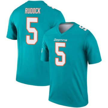 Youth Nike Miami Dolphins Jake Rudock Aqua Inverted Jersey - Legend