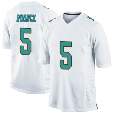 Youth Nike Miami Dolphins Jake Rudock White Jersey - Game